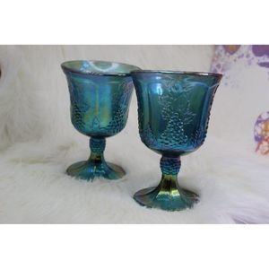 Vintage Carnival Glass Goblets